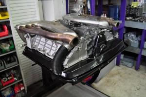 Upside down engine