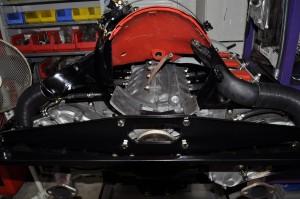 Rear of engine minus fan and alternator