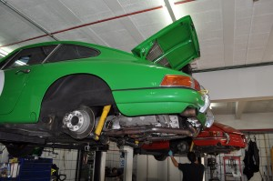End of season servicing for Jaz SWB race cars