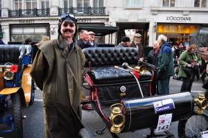 Is that moustache real? Regent Street Motor Show - Nov 2012