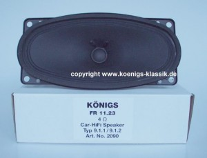 Re-manufactured under dashboard speaker for 911