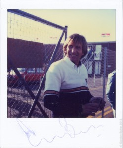…..and here is that autographed Polaroid. Thanks Gordon