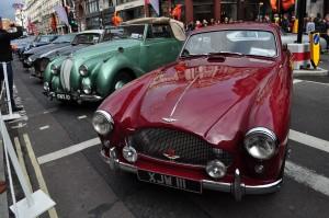 Burgundy Aston DB MkIII & Green Lagonda 2.6 DHC