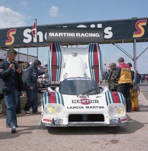 Martin Racing Lancia LC2 driven by Ricardo Patrese and Bob Wollek