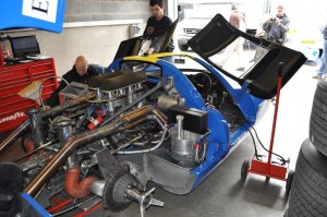 Peel open a Lola T70 and this is what you find - a bloody great 5 Litre Chevy V8. Loud enough to make your ears bleed!