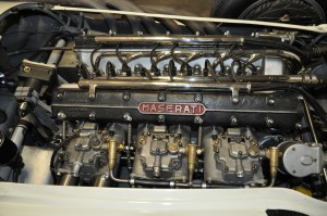 Glorious 250F straight 6 engine with triple Webers