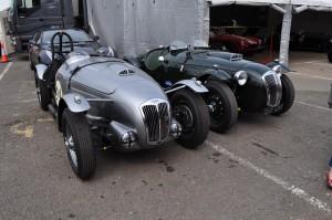 A brace of Frazer Nash Le Mans Replicas