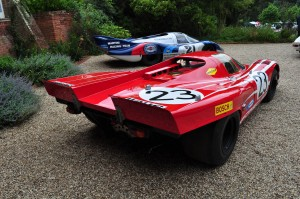 Up-swept rear end of the Porsche 917K