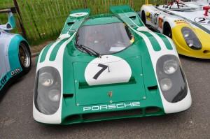 Green & white David Piper Porsche 917 at Chelsea Autolegends