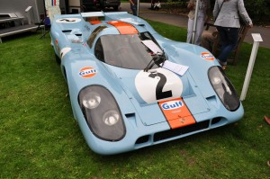 "Lovely Gulf liveried Porsche 917 used in the Steve McQueen film ""Le Mans"" - at Chelsea Autolegends"