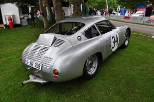 Louvred and scooped rear end of Porsche 356 Abarth